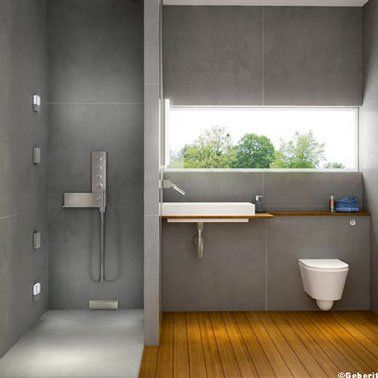 id e d coration salle de bain douche italienne dans salle de bain design carrelage gris sol. Black Bedroom Furniture Sets. Home Design Ideas