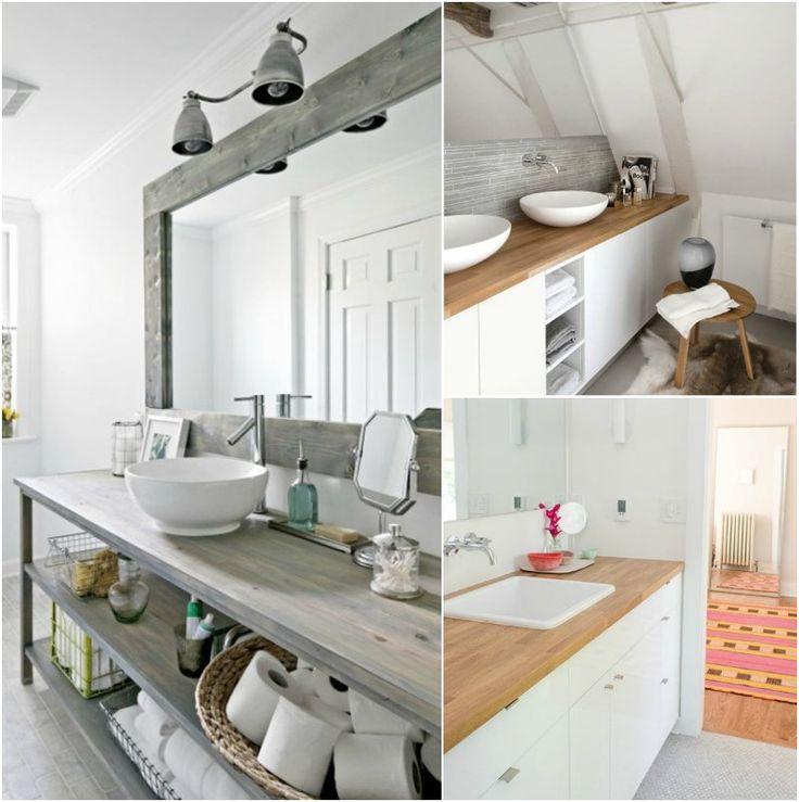 id e d coration salle de bain plan de travail salle de bain en bois massif avec meubles avec. Black Bedroom Furniture Sets. Home Design Ideas