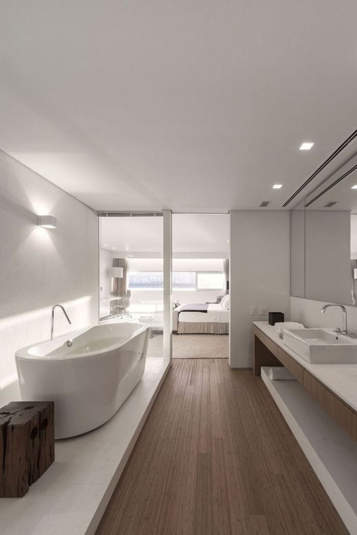 id e d coration salle de bain salle de bain de luxe avec interieur blanc. Black Bedroom Furniture Sets. Home Design Ideas