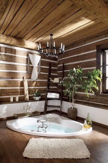 Idée décoration Salle de bain - Salle de bain en bois ...