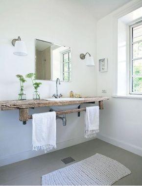 Idée décoration Salle de bain - Salle de bain épurée tendance ...