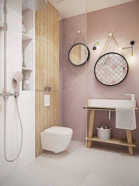 Idée décoration Salle de bain - Salle de bain girly avec couleur ...