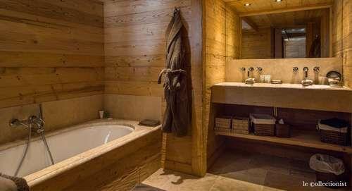 Idée décoration Salle de bain - salle de bain style chalet montagne ...