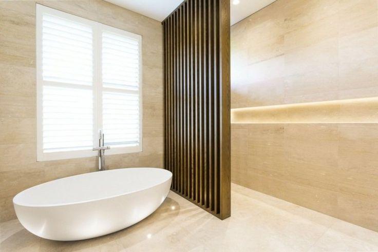 id e d coration salle de bain salle de bains avec carrelage mural et de sol de couleur sable. Black Bedroom Furniture Sets. Home Design Ideas