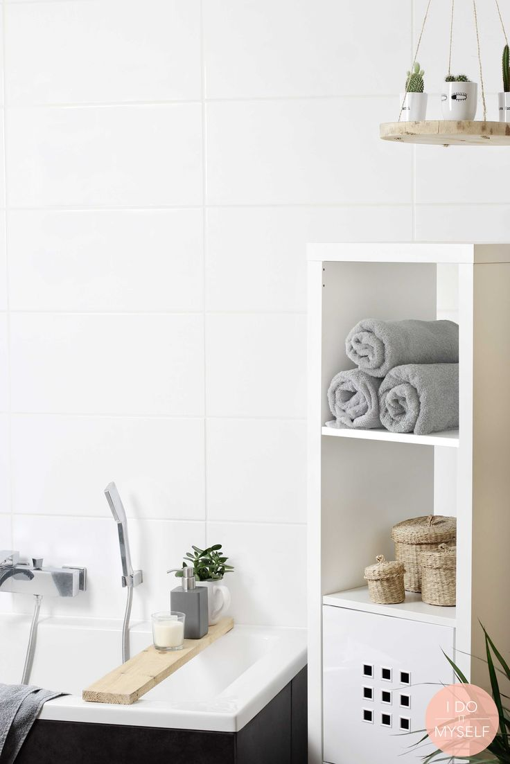 Idée décoration Salle de bain - Suspension DIY in my white ...