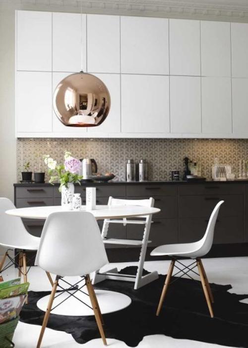 Id e relooking cuisine 20 id es de cuisine noir et blanc - Idees de cuisine moderne noir et blanc ...