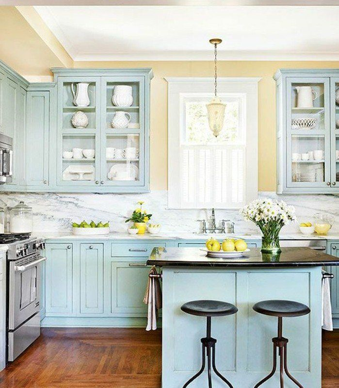 Couleur peinture cuisine jaune peinture meuble cuisine for Meuble cuisine jaune