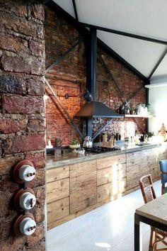Idée relooking cuisine - cuisine en bois massif, cuisine ...