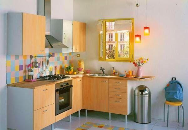 id e relooking cuisine id es d co pour maison moderne petite cuisine en l. Black Bedroom Furniture Sets. Home Design Ideas