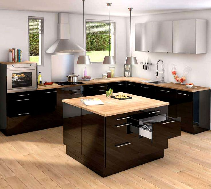 id e relooking cuisine les cuisines noires le blog des cuisines leading. Black Bedroom Furniture Sets. Home Design Ideas