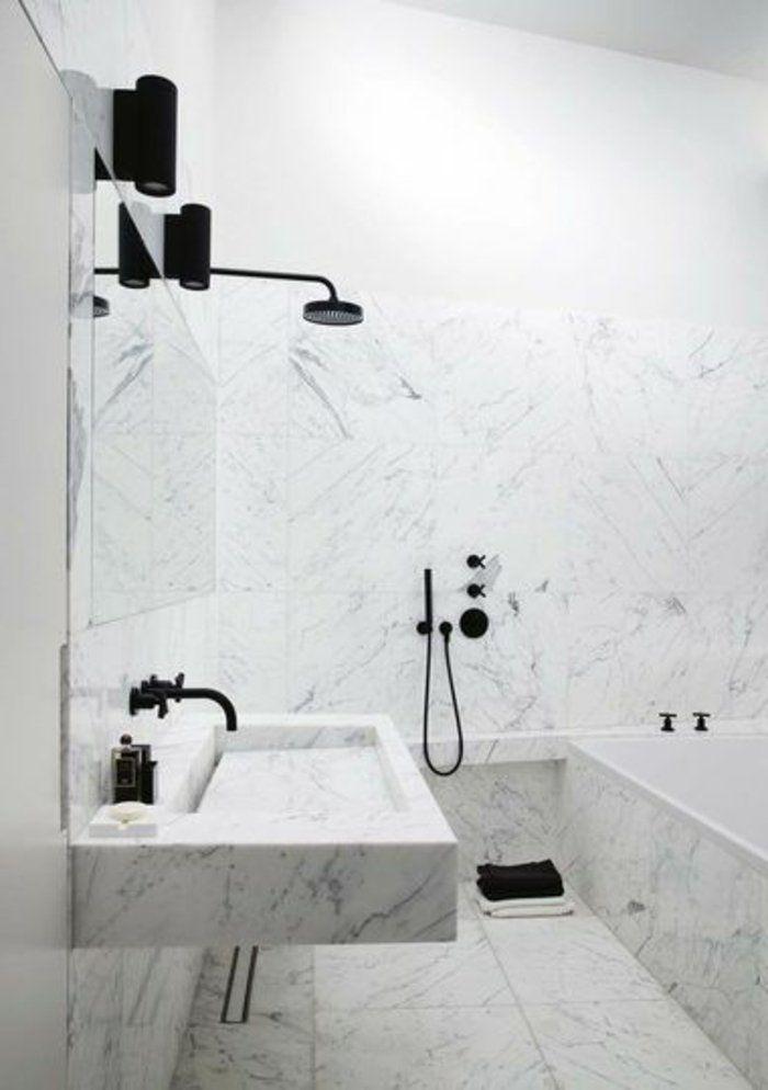 modeles salles de bains en marbre modele de salle de bain moderne blanche avec u listspirit. Black Bedroom Furniture Sets. Home Design Ideas