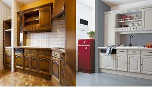 idée relooking cuisine - peinture sur plan travail cuisine ... - Peindre Plan De Travail Carrele Cuisine
