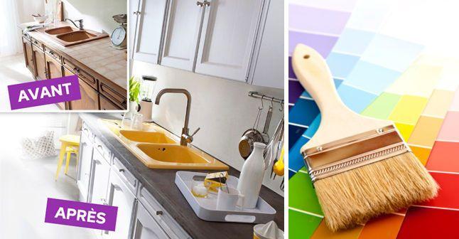 id e relooking cuisine relooker ses meubles de cuisine sans se ruiner nos 8 conseils faciles. Black Bedroom Furniture Sets. Home Design Ideas