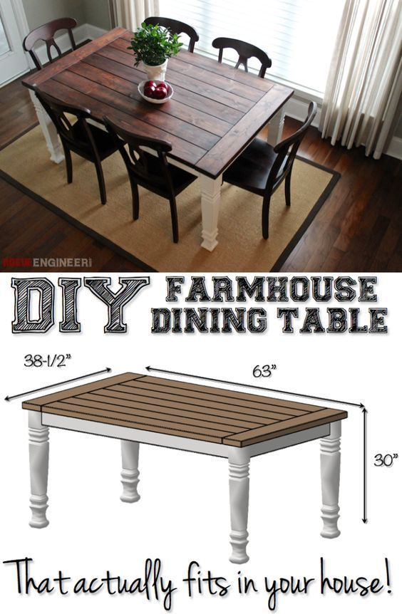 salle manger 12 beautifully rustic diy farmhouse tables leading. Black Bedroom Furniture Sets. Home Design Ideas