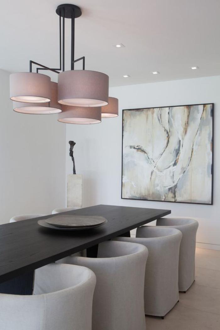 salle manger luminaire salle manger clairage pour la salle manger design moderne. Black Bedroom Furniture Sets. Home Design Ideas