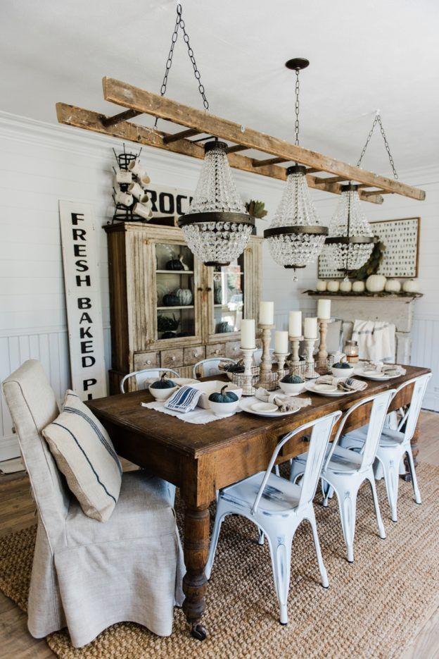 Salle Manger Simple Neutral Fall Dining Room Lovely