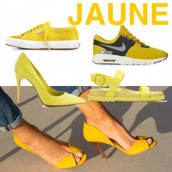 tendance chaussures 2017 le jaune tendance chaussures printemps ete 2017. Black Bedroom Furniture Sets. Home Design Ideas