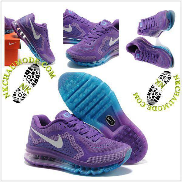 the latest fd423 d4d63 Description. Tendance   Nike Chaussure Sport Air Max 2014 Femme Pourpre  Pourpre Bleu