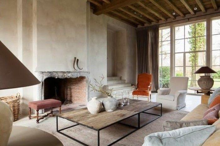 d co salon joli salon retro chic couleur gr ge et tapisserie taupe pour les meubles de sa. Black Bedroom Furniture Sets. Home Design Ideas