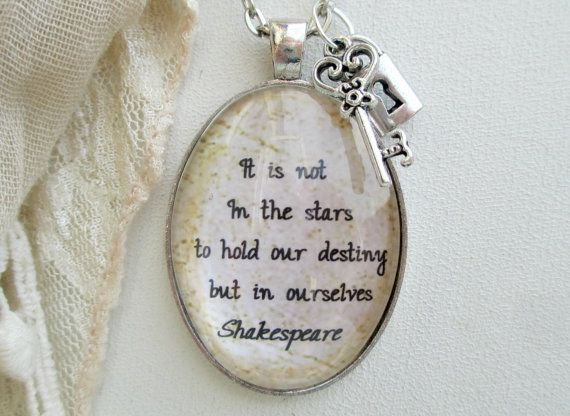 Citation Shakespeare Jewelry Inspirational Quote Necklace
