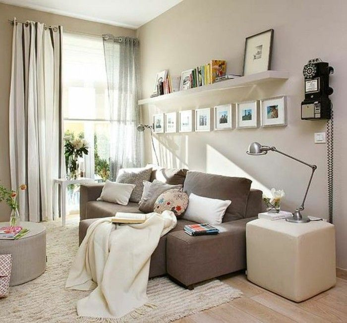 d co salon am nagement petit salon de couleur taupe leading inspiration. Black Bedroom Furniture Sets. Home Design Ideas