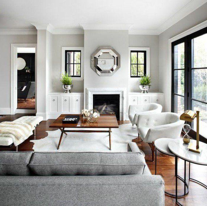 Deco Salon Deco Salon Blanc Avec Un Canape Gris Superbes