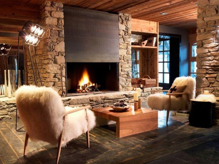 Déco Salon - Décoration intérieur chalet montagne : 50 idées ...