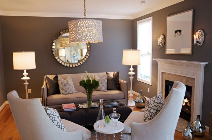 Stunning Salon Mur Marron Photos - House Interior ...
