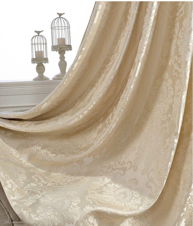 d co salon firefly jacquard fen tre rideaux tissu lourd de haute qualit avec fil d 39 a. Black Bedroom Furniture Sets. Home Design Ideas
