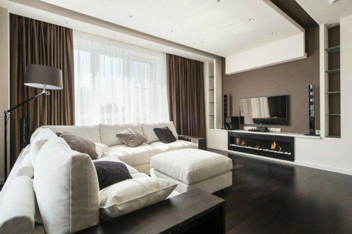 d co salon int rieur ultra moderne et tr s sobre couleur peinture salon taupe canap b. Black Bedroom Furniture Sets. Home Design Ideas