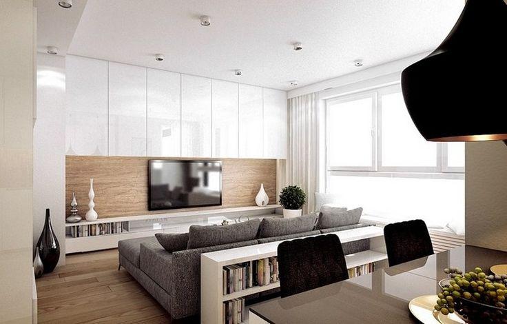 L\' écran plat mural – option élégante pour le salon moderne ...