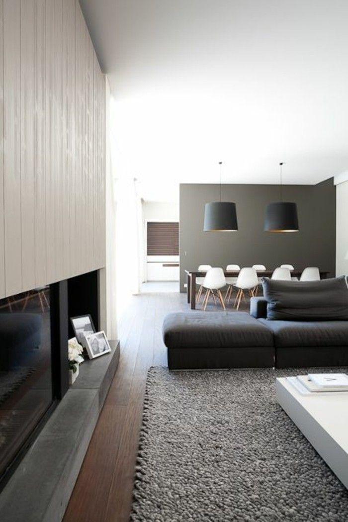 d co salon le gris anthracite en 45 photos d 39 int rieur leading inspiration. Black Bedroom Furniture Sets. Home Design Ideas