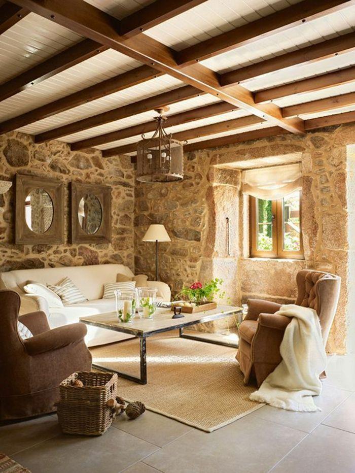 d co salon mur en fausse pierre dans le salon moderne leading. Black Bedroom Furniture Sets. Home Design Ideas