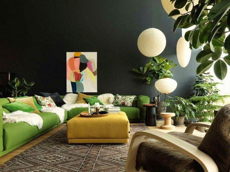 Deco Salon Peinture Salon Moderne En Gris Graphite Canape