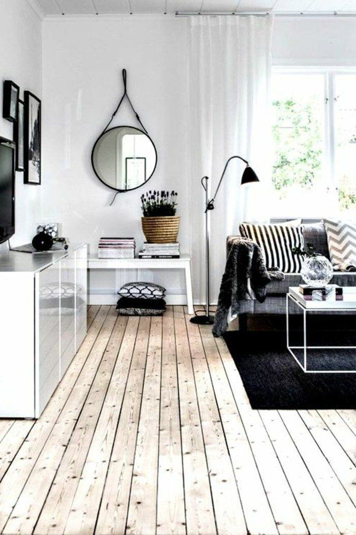 d co salon sol en parquet massif chene couleur clair pas cher salon avec canape gris. Black Bedroom Furniture Sets. Home Design Ideas