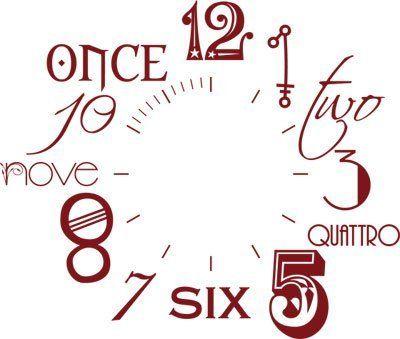 D co salon sticker mural d coration avec horloge nombre for Horloge design pour salon