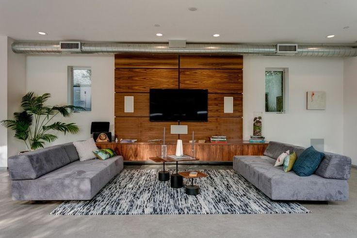 Déco Salon - Support tv mural pour désencombrer et moderniser le salon! - ListSpirit.com ...