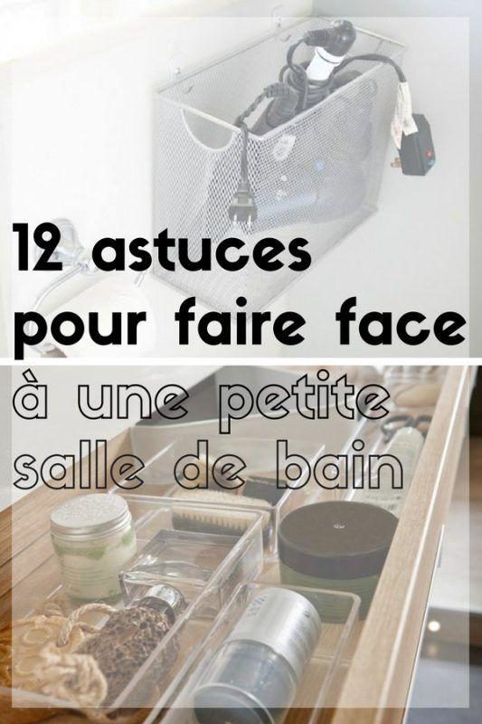 Id e d coration salle de bain 12 astuces pour faire face une petite salle de bain - Astuce rangement produit salle de bain ...