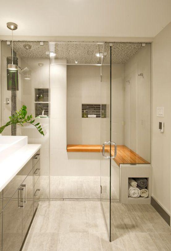 Id e d coration salle de bain 25 fresh steam shower for Decoration 25 salle de bain