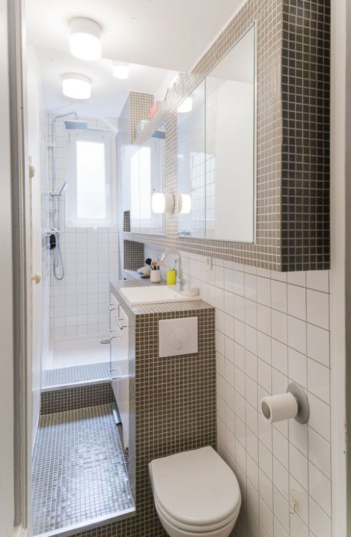 Id e d coration salle de bain 43 id es d 39 am nagement for Decoration pour petite salle de bain