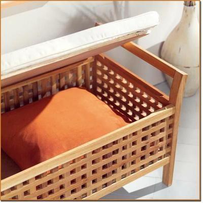 id e d coration salle de bain banc rangement de salle de bain bois de noyer. Black Bedroom Furniture Sets. Home Design Ideas