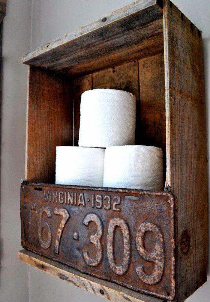 id e d coration salle de bain caisse en bois deco pour etagere wc et meuble salle de bain pas. Black Bedroom Furniture Sets. Home Design Ideas