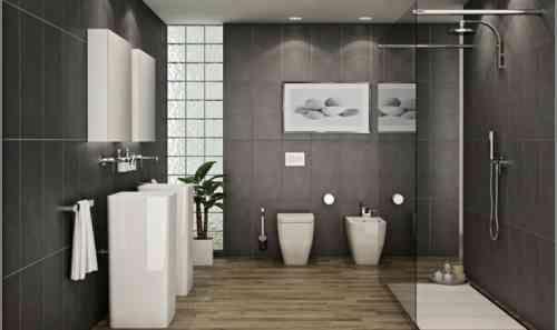Idée décoration Salle de bain - carrelage de salle de bain avec sol ...