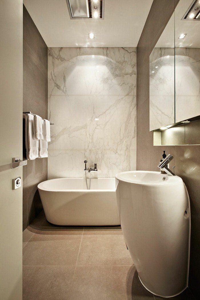 Idée décoration Salle de bain - carrelage effet marbre dans ...