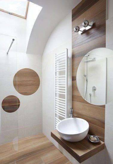 Idée décoration Salle de bain - Carrelage imitation parquet ...