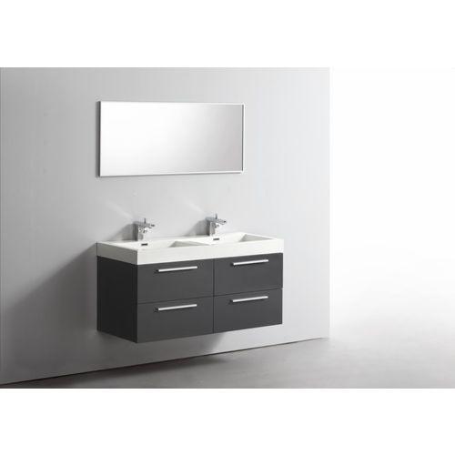Id e d coration salle de bain ensemble meuble salle de - Double vasque salle de bain 120 cm ...