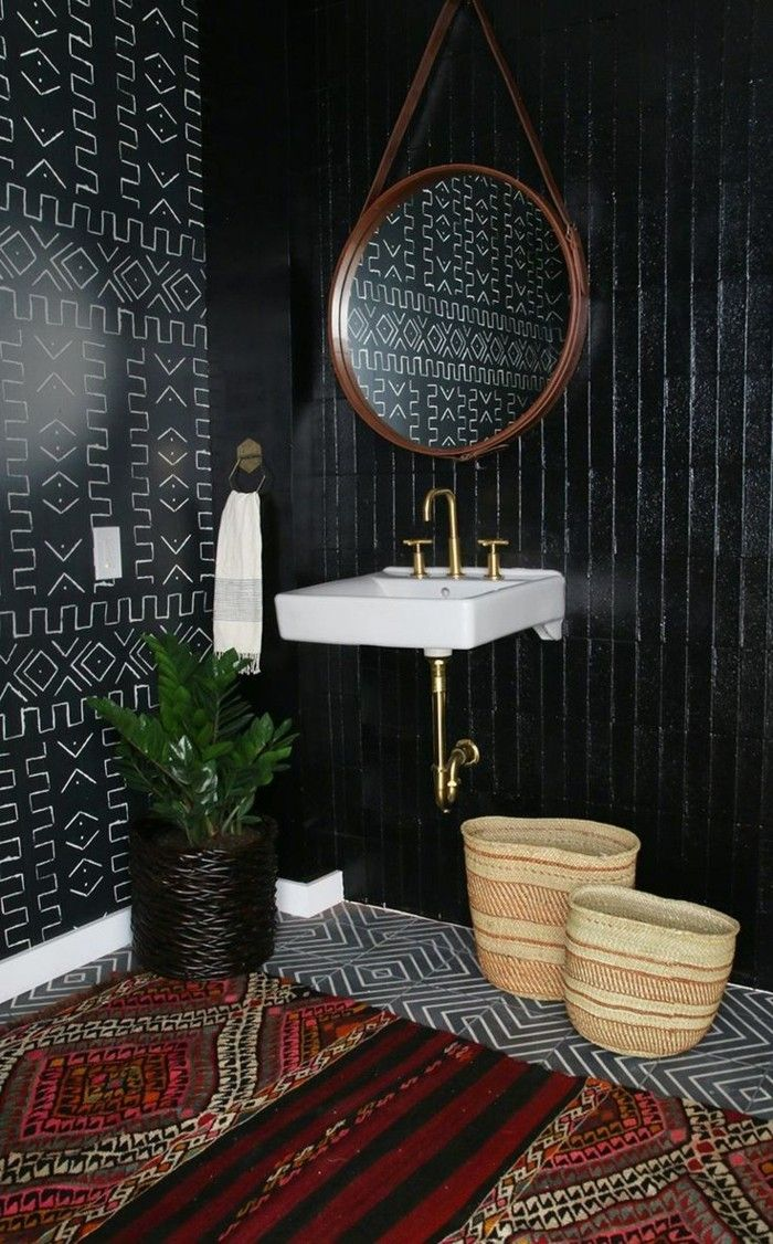 id e d coration salle de bain faience noire salle de bain faience castorama tapis salle de. Black Bedroom Furniture Sets. Home Design Ideas