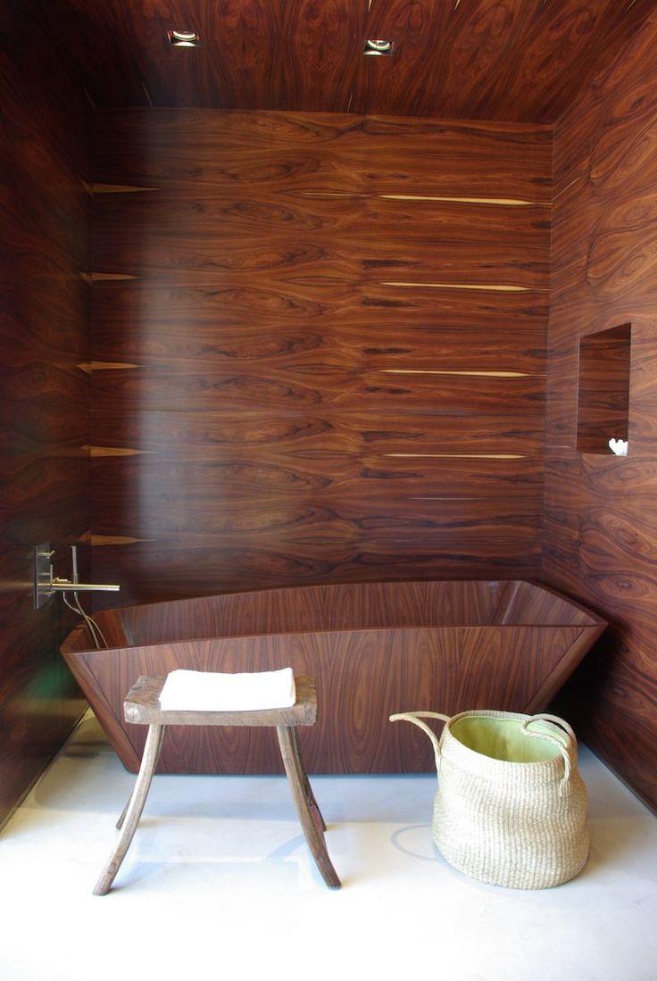 Id e d coration salle de bain id e d co salle de bain bois baignoire mur - Idee deco salle de bain bois ...