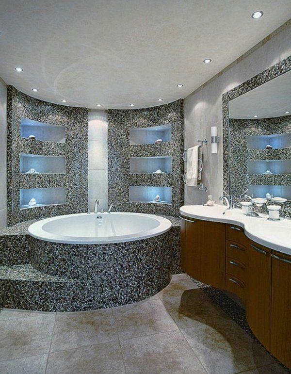id e d coration salle de bain le carrelage mosaique pour la d co de la salle de bains. Black Bedroom Furniture Sets. Home Design Ideas