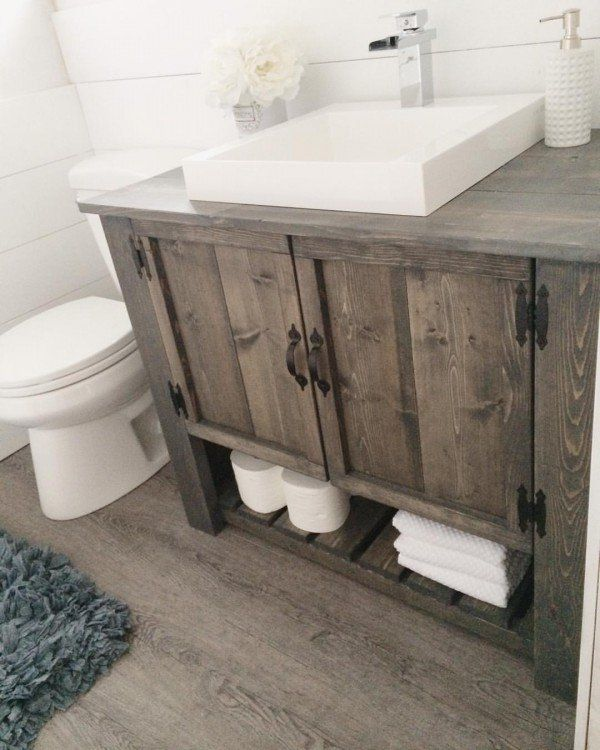 id e d coration salle de bain love the diy rustic bathroom vanity cabinet industry standard. Black Bedroom Furniture Sets. Home Design Ideas